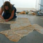sewing latex at FUSE